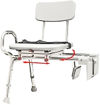 Tub-Mount Transfer Bench with Swivel seat and Back