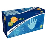 BeeSure Nitrile Exam Gloves: 1000/case, Blue, Non-Sterile, Powder-free